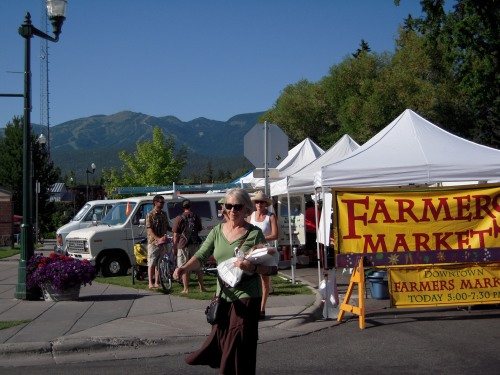Farmers' Market and Mountain